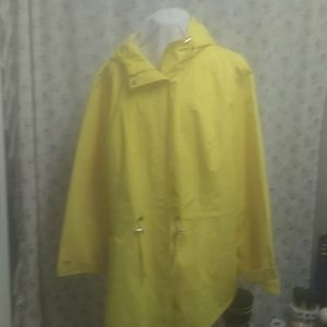 Yellow fashion bug raincoat.